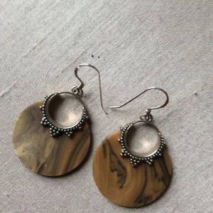 Jewelry - Silver and Resin Earrings